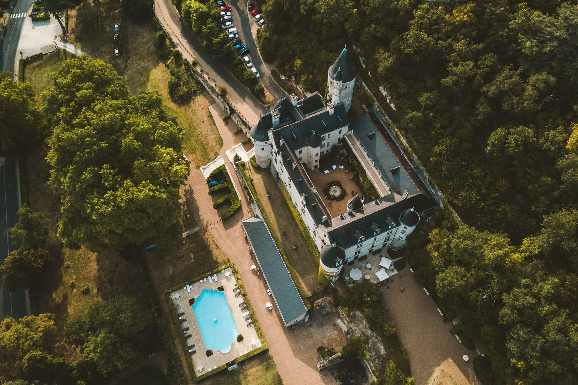 Photo drone lieu de réception de mariage