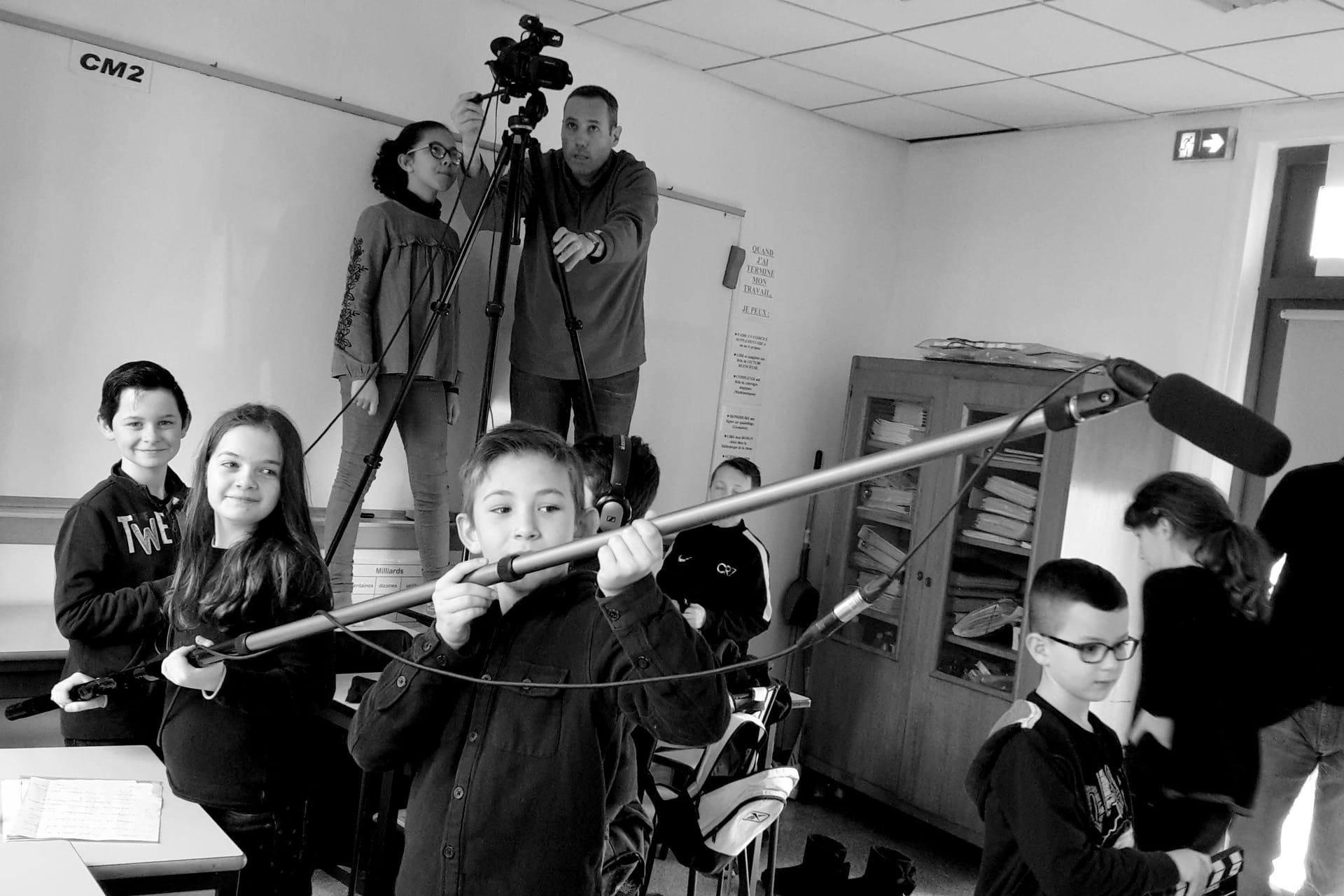 Classe découverte cinéma, Tournage avec des élèves cycle 3