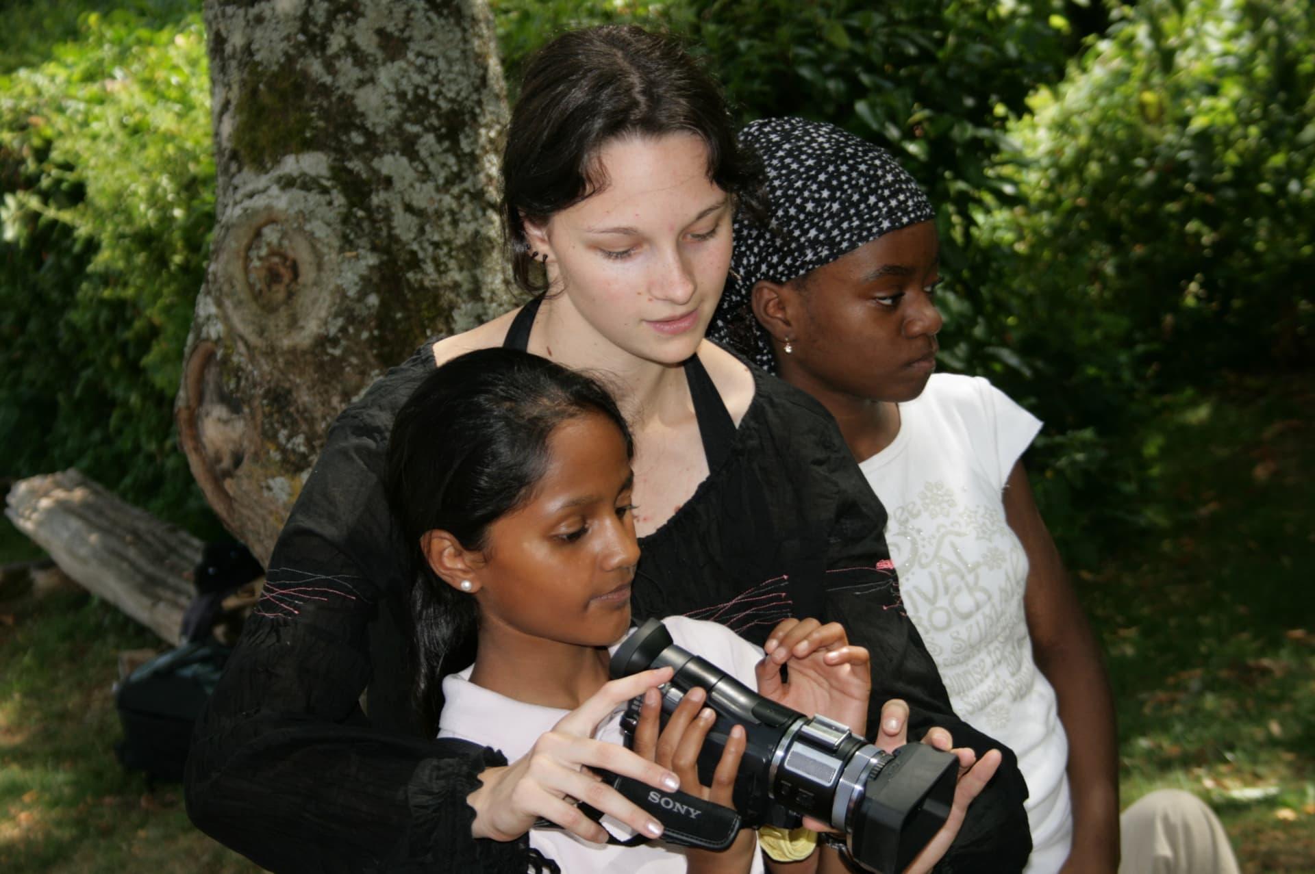 Classe découverte cinéma, tournage avec des élèves cycles 2