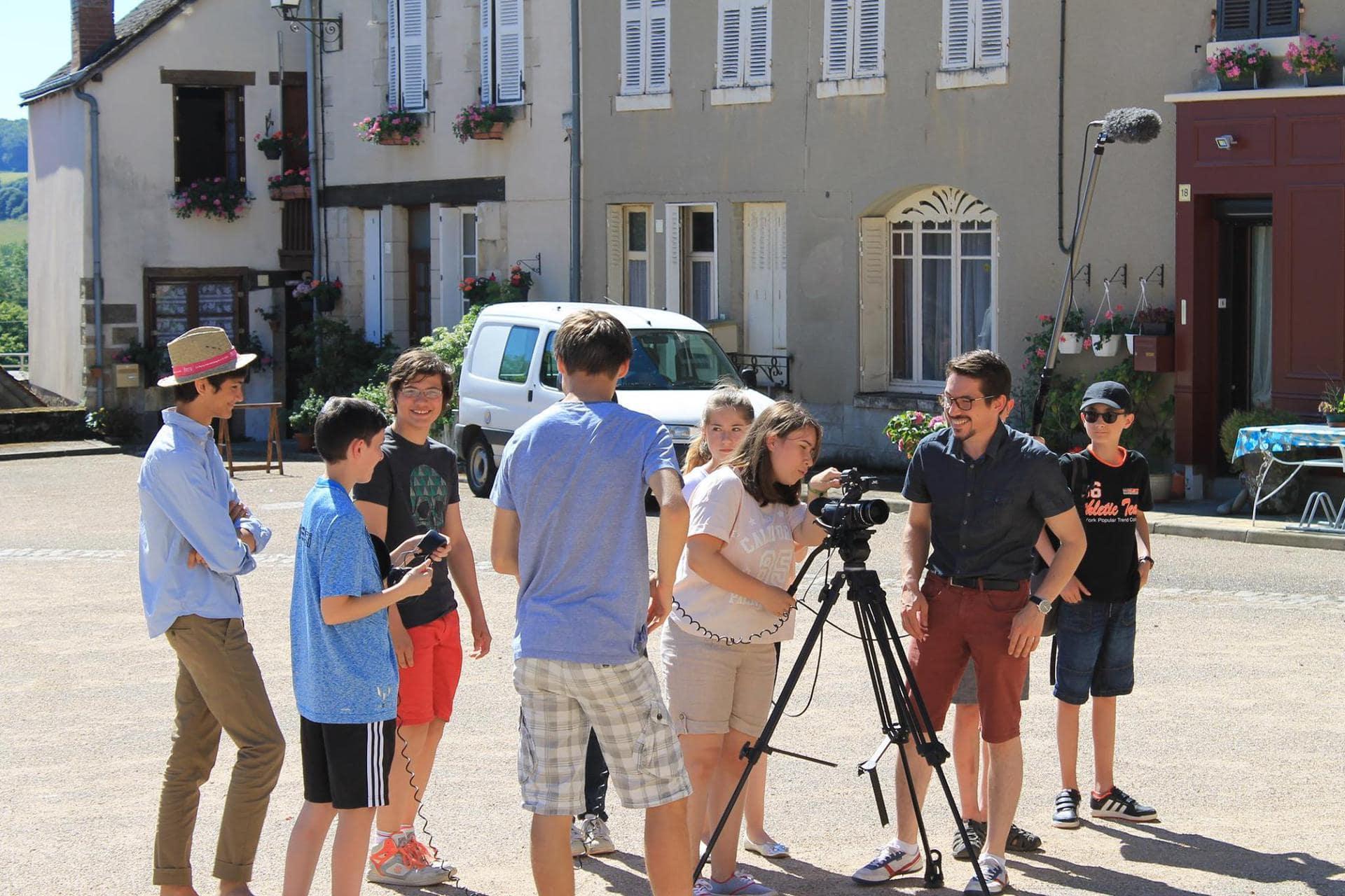Classe découverte cinéma, Sainte Sévère sur Indre, Jacques Tati, maison jour de fête