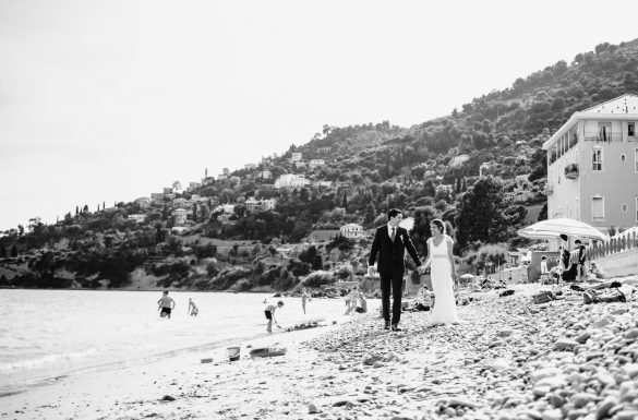Shooting couple mariés french riviera
