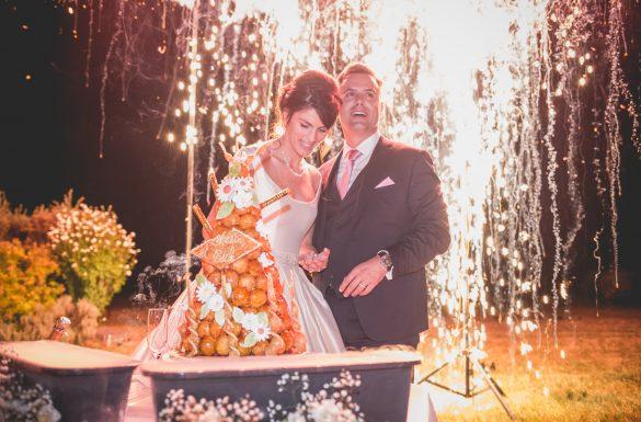 Feux d'artifice soirée mariage