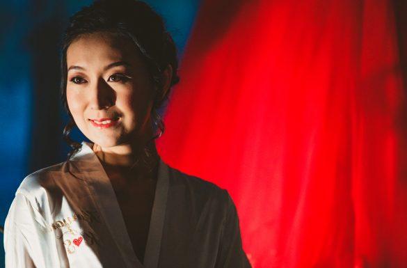 Préparatif de la mariée, asiatique
