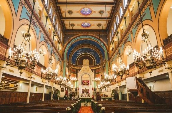 Mariage juif, synagogue